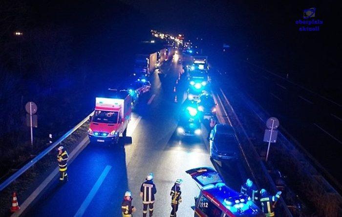 Schwerer Verkehrsunfall auf der Autobahn mit über 1,5 Promille